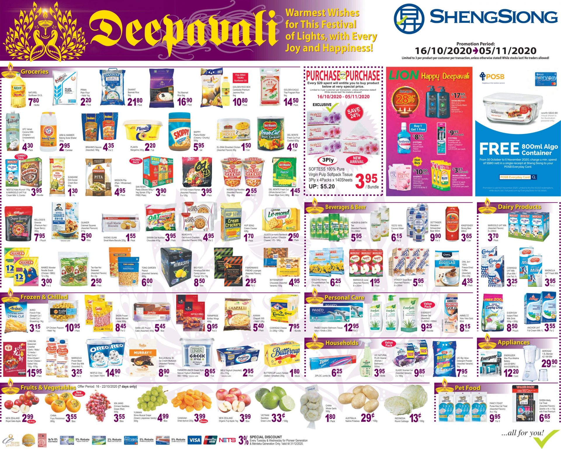 Deepavali Promotion 16 Oct 2020 – 05 Nov 2020